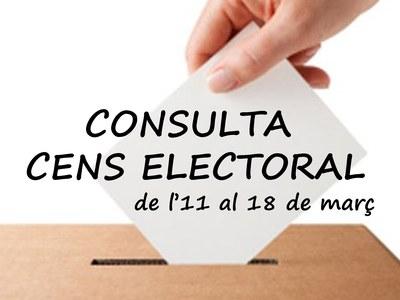 Període de consulta del cens electoral