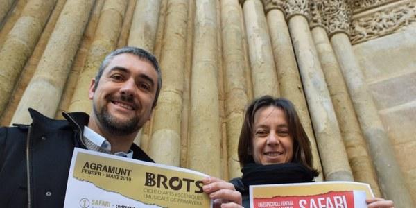 Presentació del cicle Brots a càrrec de l'alcalde i la regidora de cultura