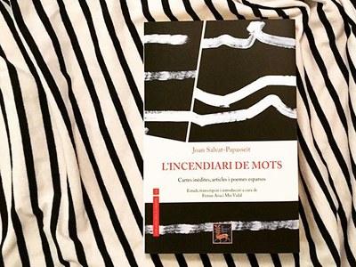 """Presentació del llibre: """"Joan Salvat-Papasseit. L'incendiari de mots, cartes inèdites, articles i poemes esparsos"""""""