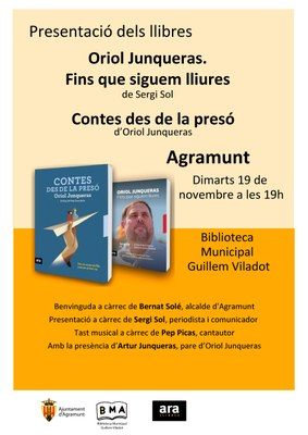 Presentació llibre Junqueras Agramunt