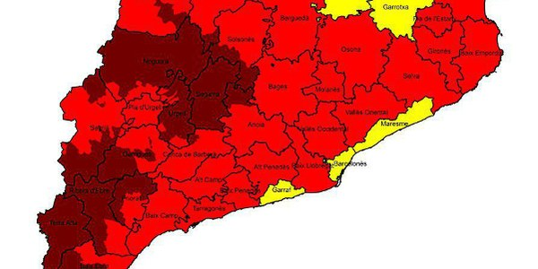 Prohibició de segar per l'alt risc d'incendis