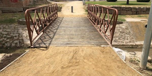 Imatge de la remodelació del pont.