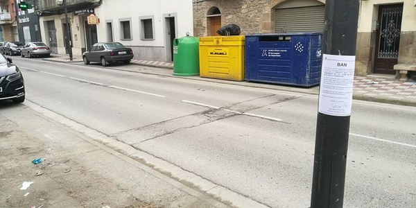 Reubicació d'illes de contenidors