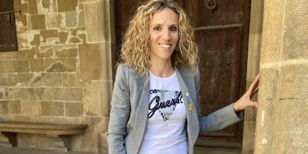 Sílvia Fernàndez i Tarragona a l'Ajuntament d'Agramunt.