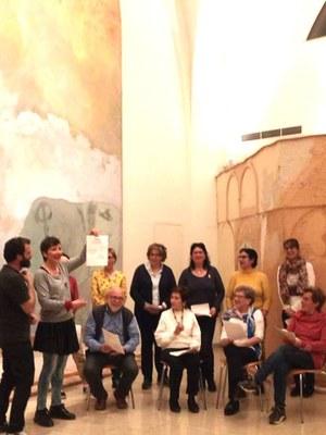 Taller conjunt a l'Espai Guinovart amb els alumnes del taller de soundpainting