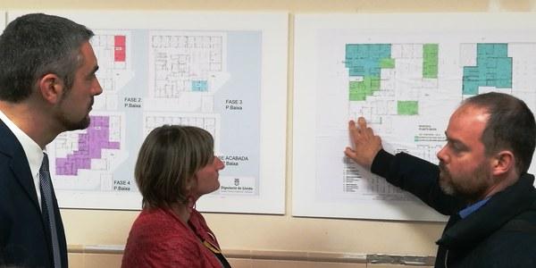 La consellera de Salut Alba Bergès visita les obres d'ampliació del CAP d'Agramunt