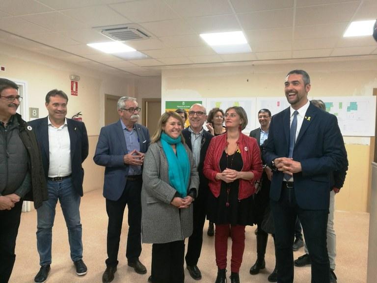 Visita d'obres al Centre d'Atenció Primària d'Agramunt